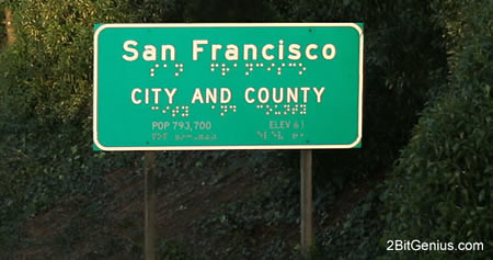 San Francisco road sign, accessible to all... | This image ...