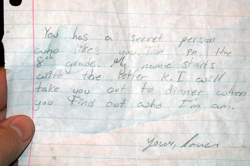 secret admirer letters secret admirer xy has a secret admirer she found this 24783 | 407941280 1b64d490ee