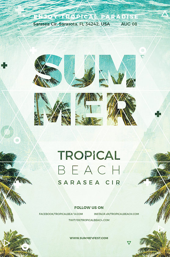 summer flyer template free