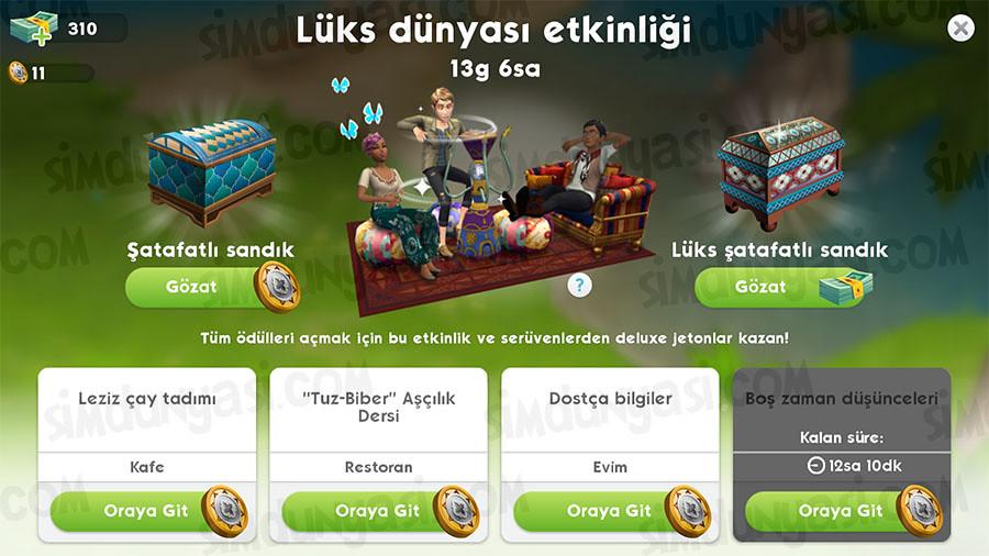 The Sims Mobile Bubble Blower Event Lüks Dünyası (Baloncuk Barı) Etkinliği
