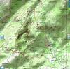 Carte du secteur Vanga,Gerra et Pastricciola en Cagne Sud avec la boucle des visites effectuées avec l'AFA le 29/04/2018 depuis San Gavinu
