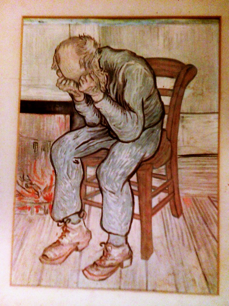 Sad man drawing by arl3ne