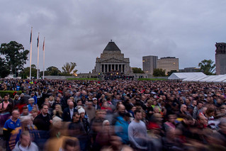 The great turn out for #ANZACDay | by wolfcat_aus