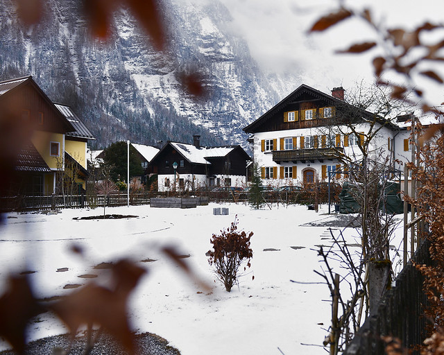 Casitas de Hallstatt nevadas