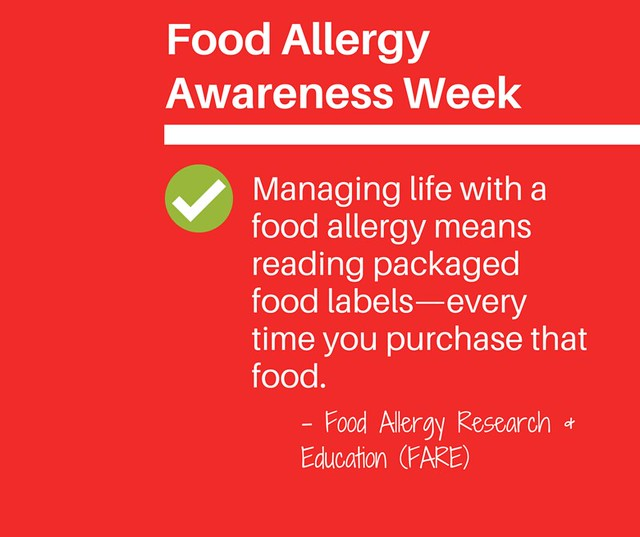 Food Allergy Awareness Week graphic