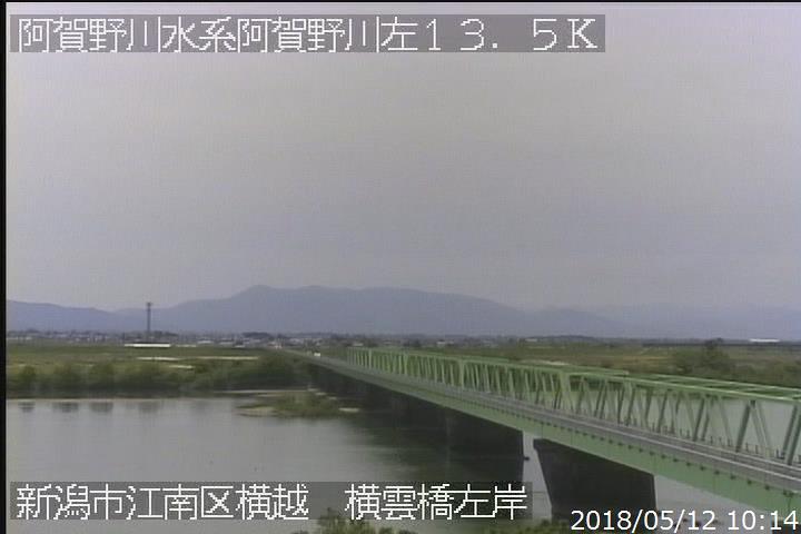 阿賀野川横雲橋左岸ライブカメラ...