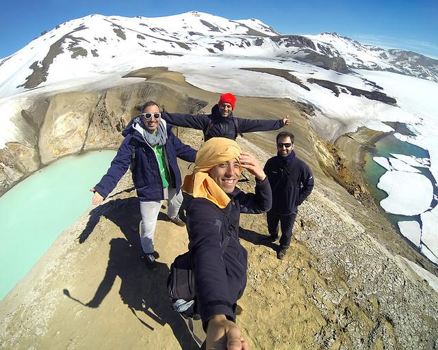 De ruta por Islandia en lo alto del Volcan Askja