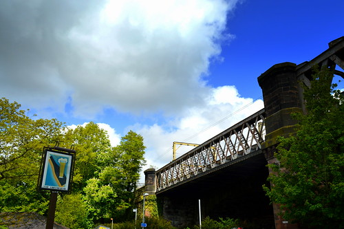 Continental pub sign and bridge | by Tony Worrall