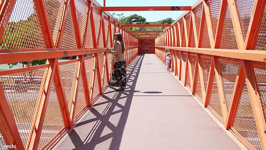 puente naranja en Valencia para hacer fotos