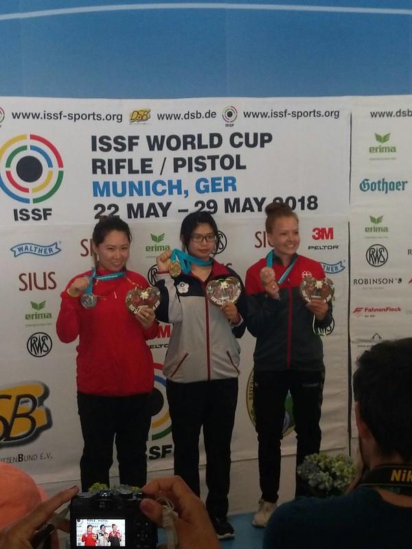林穎欣獲世界盃女子空氣步槍金牌。(中華奧會提供)