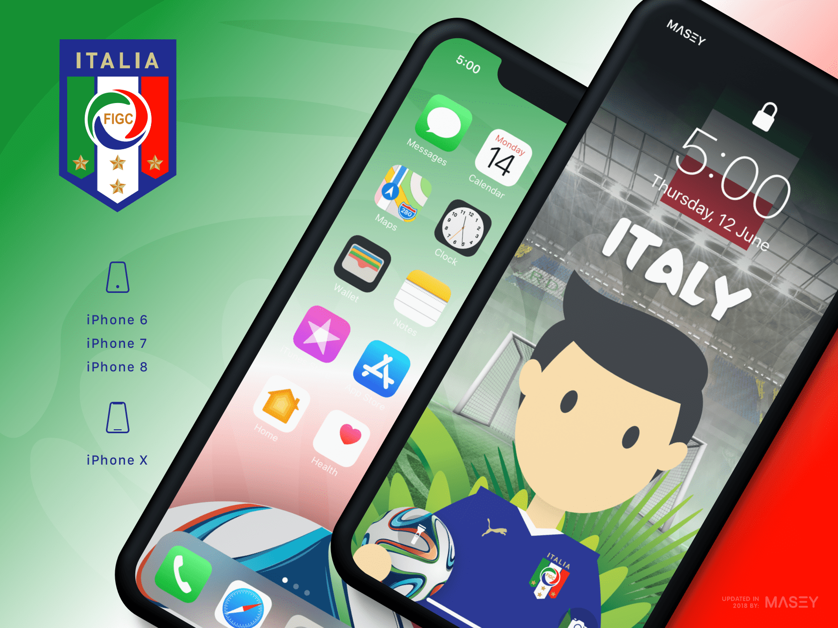 Team Italy iPhone Wallpaper