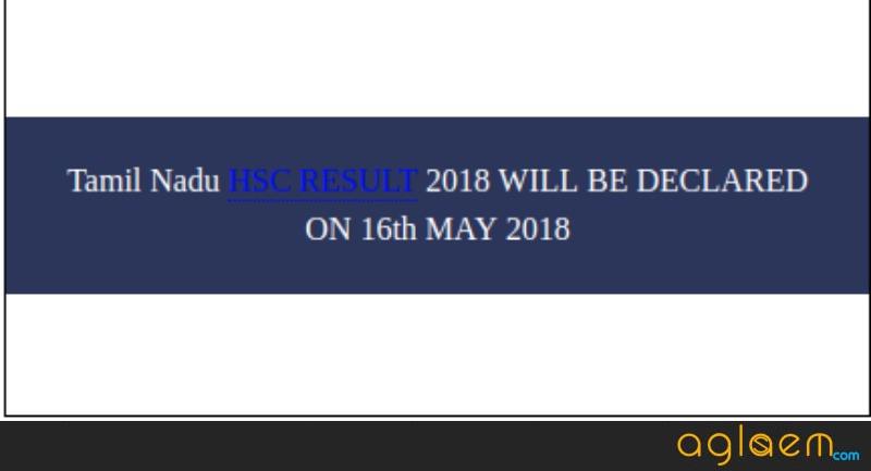 Tamil Nadu 12th Result 2018