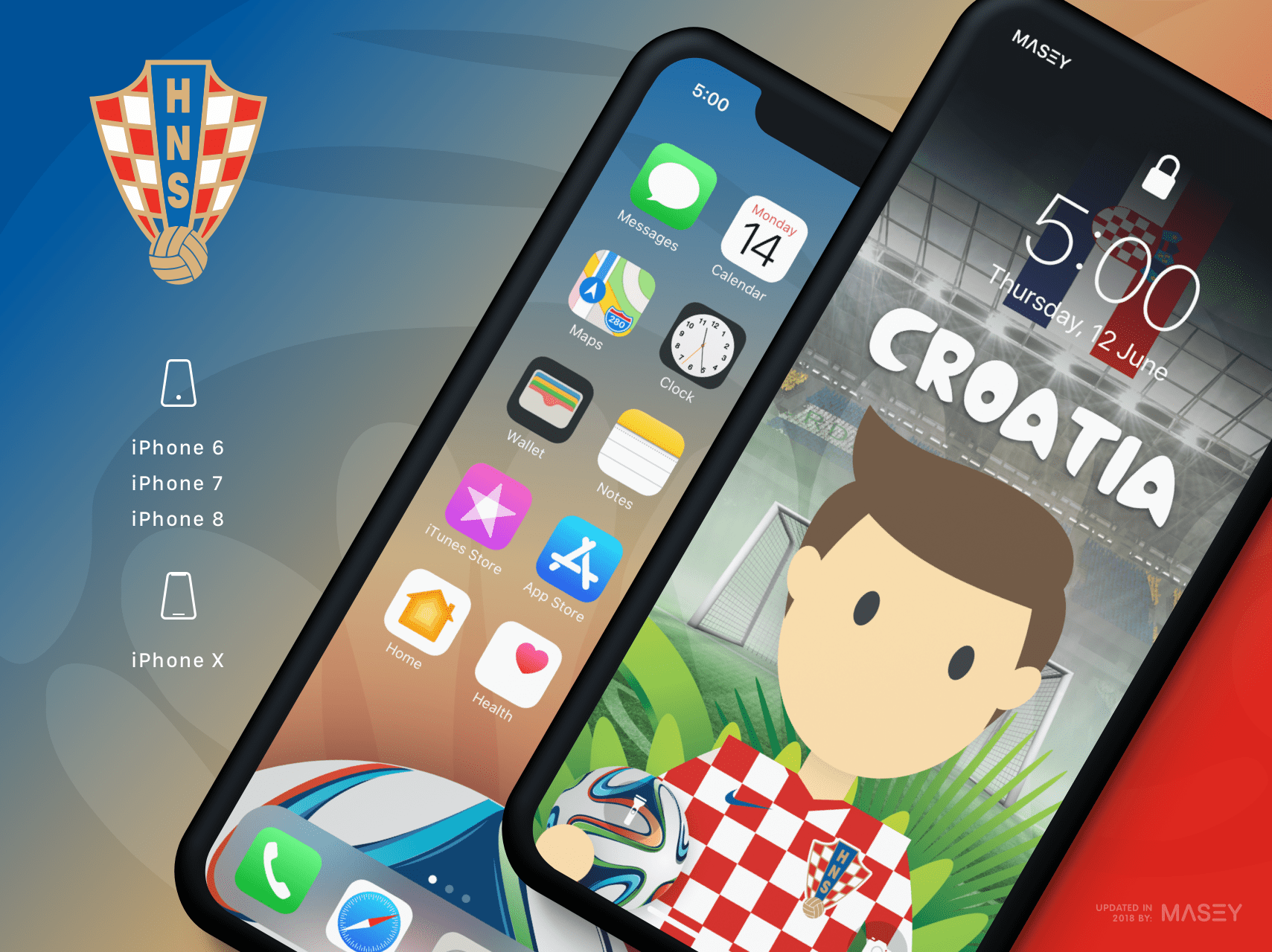 Team Croatia iPhone Wallpaper
