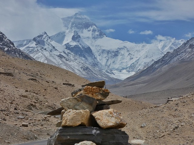 Monte Everest desde el Tíbet (cara norte)