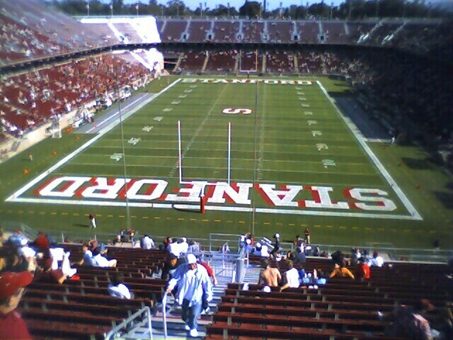 Stanford Stadium | End zone view, halftime of Washington ...