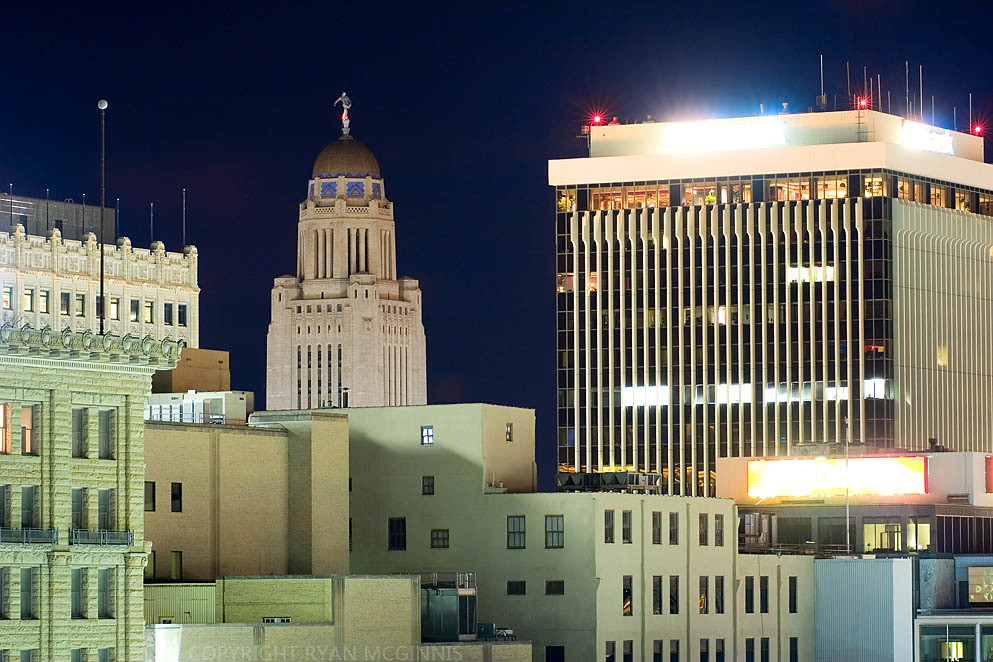 Lincoln Nebraska At Night Lincoln Nebraska Skyline At Nig Flickr