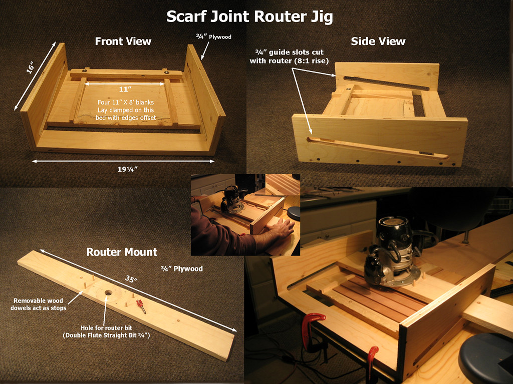 Scarf Joint Router Jig How To Scarf The Ends To Make 16