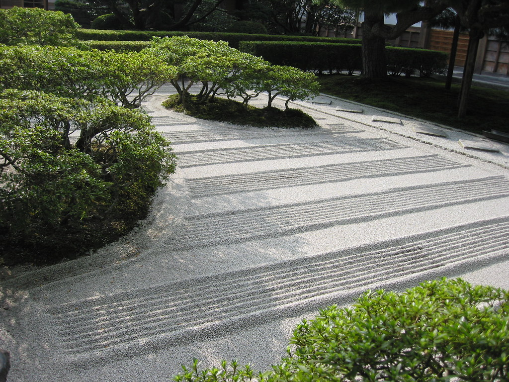 The Zen Garden At Ginkakuji Kyoto Japan One Of The
