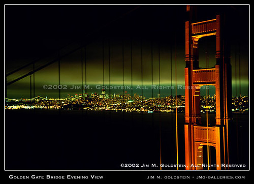 Golden Gate Bridge Evening View | by jimgoldstein