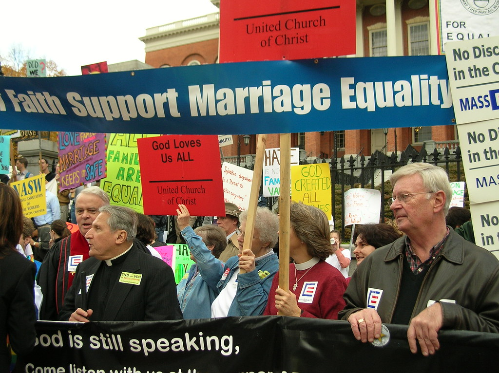 Gay marriage protest speeches