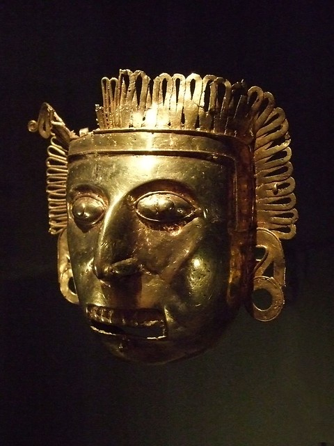 Pectoral Maskette Gold Oaxaca Mexico Mixtec Aztec Culture