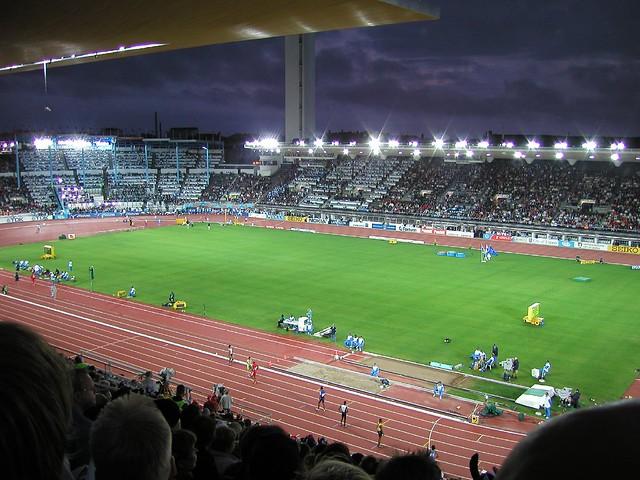 Atletismo en el estadio olímpico de Helsinki