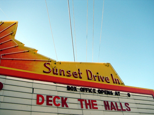 deck the halls at the sunset drive in | by emdot