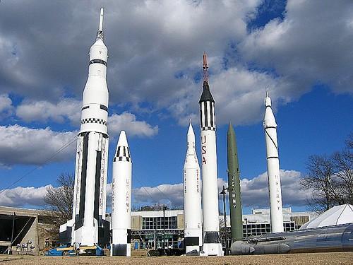 Rocket Garden. Marshall Space Flight Center. Huntsville ...
