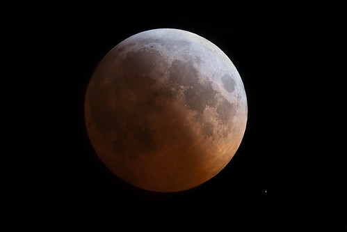 lunar eclipse with star | by Ro Irving