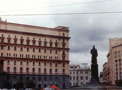 Staute of F. E. Dzerzhinsky in Front of the KGB Headquarters