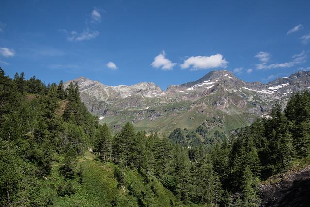 Salendo all'Alpe Veglia
