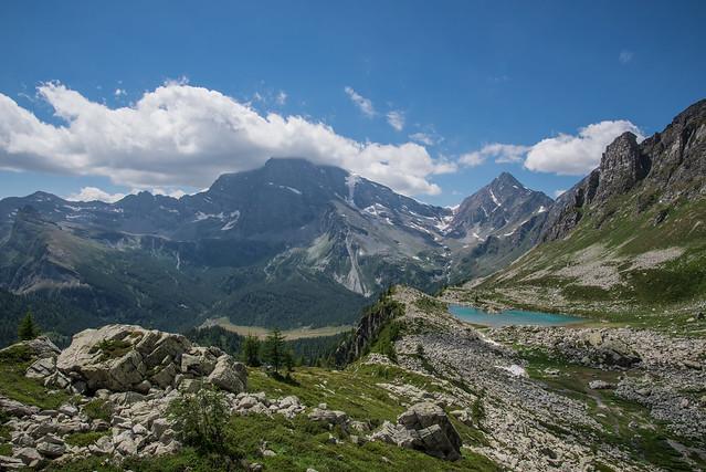 Vista del Lago Bianco e dell'Alpe Veglia