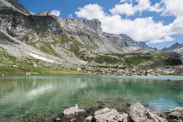 Lago Bianco con vista su Piodelle - Alpe Veglia