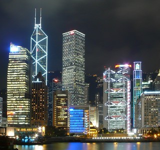 Hong Kong skyscrapers at night | by cnmark