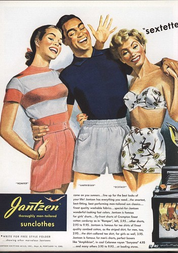 Ad for swimsuits - Sextette from Jantzen 1949 (part I) | by Silverbluestar