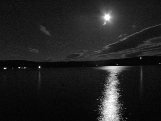 Moon Over Lake Waukewan