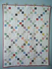 1933 Single Irish Chain Quilt: Front | by Blue is Bleu