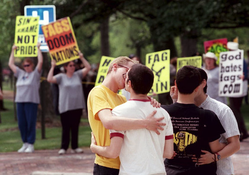 FRED PHELPS OBERLIN COLLEGE OHIO GAY PROTEST  FUNERAL | by escapedtowisconsin