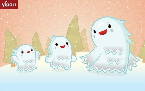 Snow monsters march | by yipori