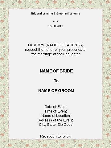 Nice Invitation Format | By Fadil_fp Invitation Format | By Fadil_fp And Format For Invitation