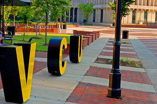 VCU in Big Letters on Shafer Court | by taberandrew