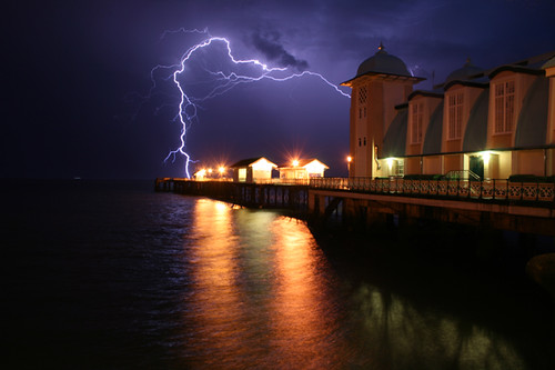 Lightning Strikes Pier | by Time Grabber