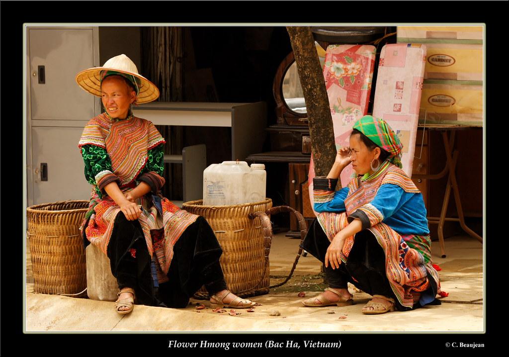 Femme Hmong Fleur Bac Ha Vietnam Travelpict Flickr