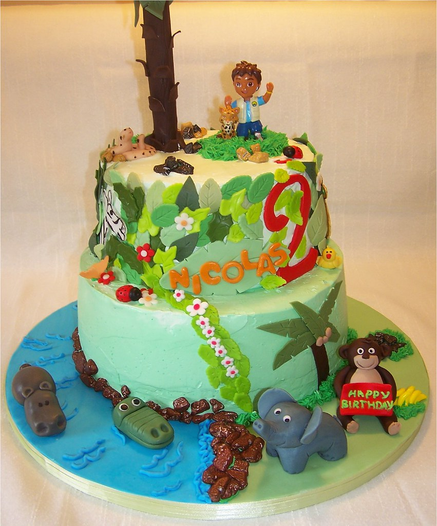 ForestGo Diego Go Theme Cake Diego And Baby Jaguar Are To Flickr - Go diego go birthday cake