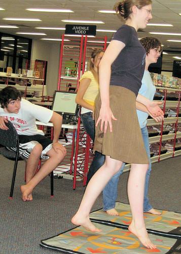 Teen boy and girl put on a public show - 1 1