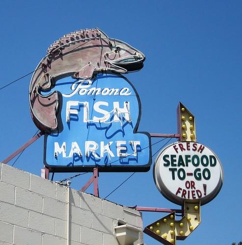 Pomona fish market neon bulb sign pomona ca fresh or for Empire fish market