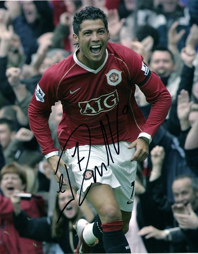 Ronaldo signed picture | by davidwatts1978