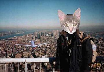 Xena at the WTC just as a plane is about to crash | by Newbirth35