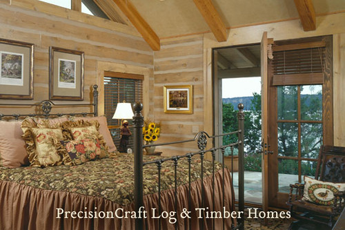 Home on a Lakeside in Texas | Log Home & Timber Frame Home Hybrid | PrecisionCraft Log & Timber Homes | by PrecisionCraft Log & Timber Homes