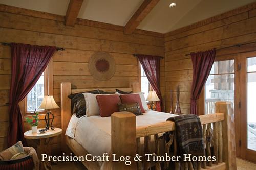 bedroom in a log home timber frame home hybrid tamarac flickr. Black Bedroom Furniture Sets. Home Design Ideas